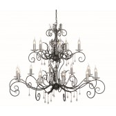 Elstead AML15 BLK/SILVER Amarilli 15 - Light Chandelier Black/Silver