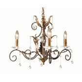 Elstead AML3 BRONZE Amarilli 3 - Light Chandelier Bronze/Gold