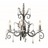 Elstead AML3 BLK/SILVER Amarilli 3 - Light Chandelier Black/Silver