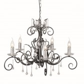 Elstead AML5 BLK/SILVER Amarilli 5 - Light Chandelier Black/Silver