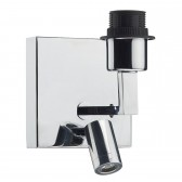 Anvil Wall Bracket With Led Base Only Polished Chrome