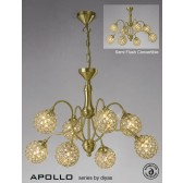 Diyas Apollo 8 Light Pendant Satin Gold