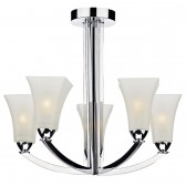 Arlington Semi Flush Ceiling Light - 5 Light, Polished Chrome
