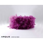 Diyas Arqus Feather Shade Aubergine 250mm