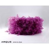 Diyas Arqus Feather Shade Aubergine 330mm