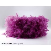 Diyas Arqus Feather Shade Aubergine 410mm