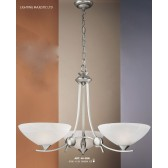 JH Miller - Dorchester Ceiling Light - 3 Light Satin Chrome