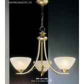 JH Miller - Dorchester Ceiling Light - 3 Light Brass