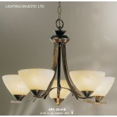 JH Miller - Dorchester Ceiling Light - 5 Light Brushed Bronze