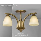 JH Miller - Dorchester Ceiling Light - 3 Light Brushed Bronze