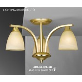 JH Miller - Dorchester Ceiling Light - 3 Light Satin Brass