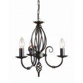 Elstead ART3 BLACK Artisan 3 - Light Chandelier Black