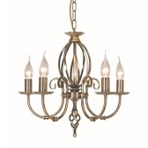 Elstead ART5 AGD BRASS Artisan 5 - Light Chandelier Aged Brass