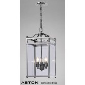 Diyas Aston Pendant 3 Light Polished Chrome