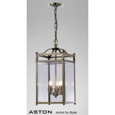 Diyas Aston Pendant 3 Light Antique Brass