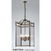 Diyas Aston Pendant 4 Light Antique Brass