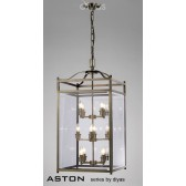 Diyas Aston Pendant 12 Light Antique Brass