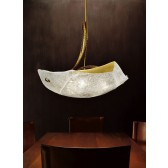 Atene Ceiling Light - 2 Light, Antiqued Brown, Amber Glass