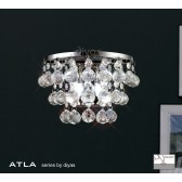 Diyas Atla Switched Wall 2 Light Chrome/Crystal.