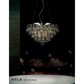 Diyas Atla Pendant 8 Light Polished Chrome/Crystal