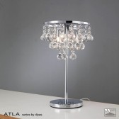 Diyas Atla Table Lamp 3 Light Polished Chrome/Crystal