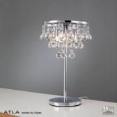 Diyas Atla Table Lamp 3 Light Polished Chrome/Crystal