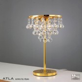 Diyas Atla Table Lamp 3 Light Gold Plated/Crystal