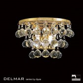 Diyas Atla Wall Lamp Switched 2 Light Polished Gold/Crystal