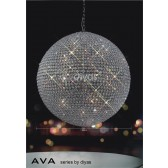 Diyas Ava Pendant 18 Light Polished Chrome/Crystal