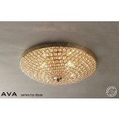 Diyas Ava Ceiling 4 Light French Gold/Crystal