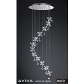 Diyas Aviva Pendant 12 Light 4000K LED Polished Chrome/Crystal