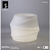 Bambu Short Pot No Light Outdoor White