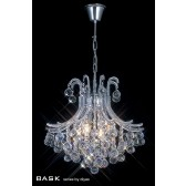 Diyas Bask Pendant 4 Light Round Polished Chrome/Crystal