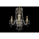 Bohemian BCC03AG Crystal Chandelier - 3-Light