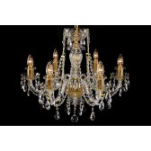 Bohemian BCC06CG Gold Crystal Chandelier - 6-Light
