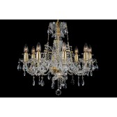 Bohemian BCC08DG Gold Crystal Chandelier - 8-Light