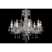 Bohemian BCC08DS Silver Crystal Chandelier - 8-Light