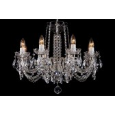 Bohemian BCC08NBS Low Ceiling Crystal Chandelier - 8-Light