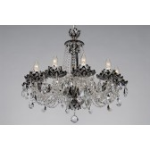 Bohemian BCC10 Black Crystal Chandelier with Lotus - 10-Light