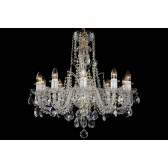 Bohemian BCC10D Neutral Crystal Chandelier - 10-Light