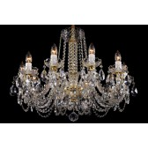 Bohemian BCC10NB Colourless Crystal Chandelier - 10-Light