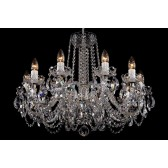 Bohemian BCC10NBS Low Ceiling Crystal Chandelier - 10-Light