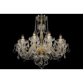 Bohemian BCC10SP Colourless Crystal Chandelier with Swarovski Trimmmings - 10-Light