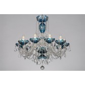 Bohemian BCC10SPS Azure Crystal Chandelier with Swarovski Trimmings - 10-Light