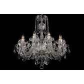 Bohemian BCC10SPS Neutral Crystal Chandelier with Swarovski Trimmings - 10-Light