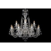 Bohemian BCC122DS Crystal Chandelier with Dishes - 12-Light