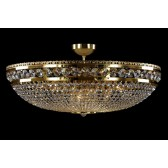 Bohemian BCC12A Gold Basket Crystal Chandelier - 12-Light