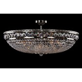 Bohemian BCC12AS Silver Basket Crystal Chandelier - 12-Light