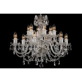 Bohemian BCC12AS Silver Crystal Chandelier - 12-Light