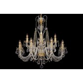 Bohemian BCC12DKG Gold Crystal Chandelier - 12-Light